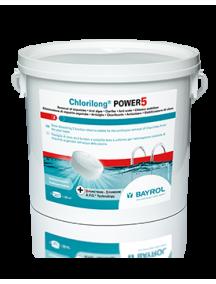 Lėto tirpimo  daugiafunkcinės chloro tabletės Chlorilong Power 5, 5kg