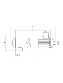 Vandens šildytuvas šilumokaitis OVB 1000, 293,0 Kw