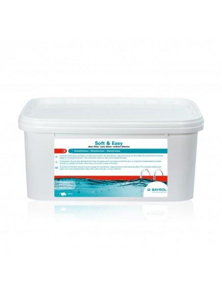 Baseinų priežiūros priemonė BE CHLORO Soft & Easy, 2,24 kgPriežiūros komplektai www.manobaseinas.lt